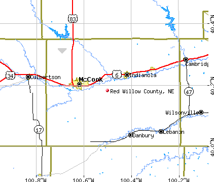 Red Willow County, NE map