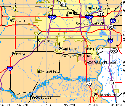 Sarpy County, NE map