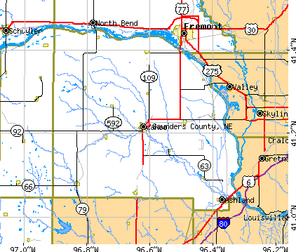 Saunders County, NE map