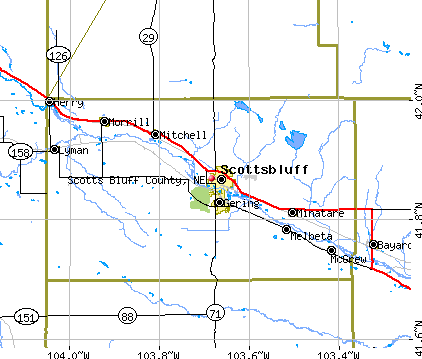 Scotts Bluff County, NE map