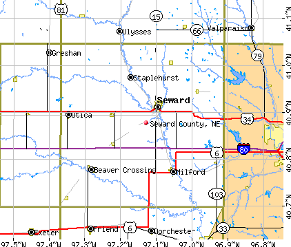 Seward County, NE map