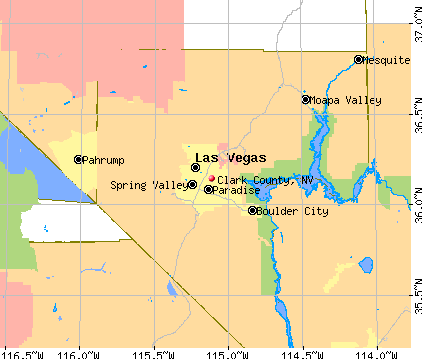 Clark County, NV map