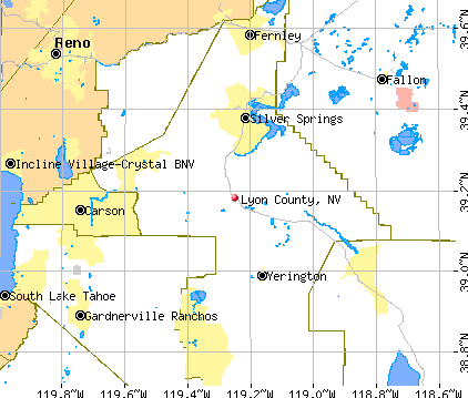 Lyon County, NV map