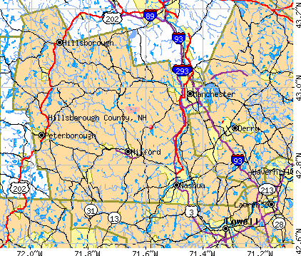 Hillsborough County, NH map