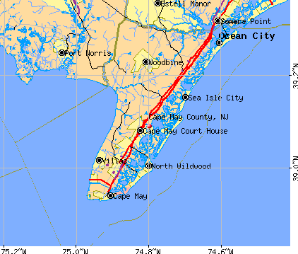 Cape May County, NJ map