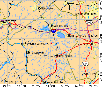 Hunterdon County, NJ map