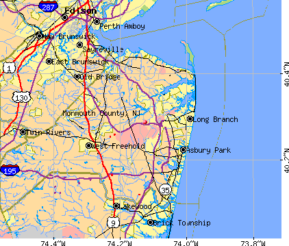 Monmouth County, NJ map