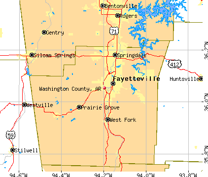 Washington County, AR map
