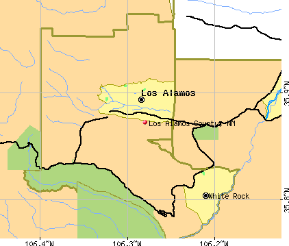 Los Alamos County, NM map
