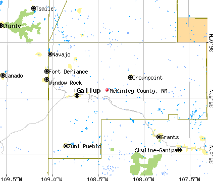 McKinley County, NM map