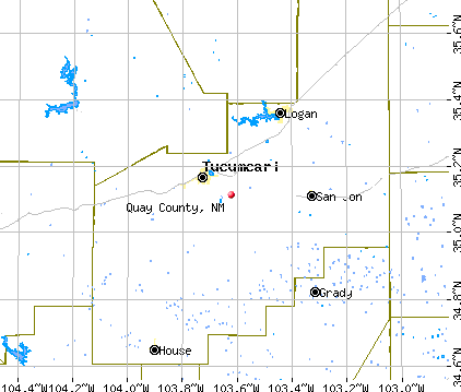 Quay County, NM map
