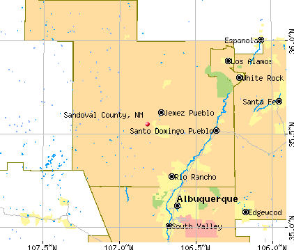 Sandoval County, NM map