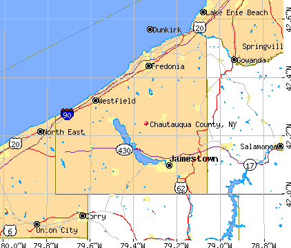 Chautauqua County, NY map