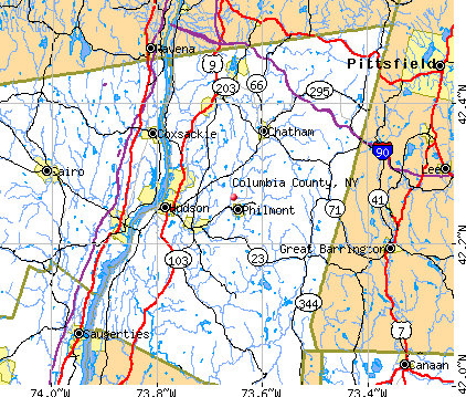 Columbia County, NY map