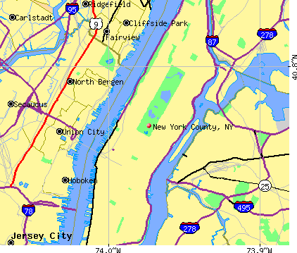 New York County, NY map