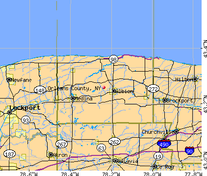 Orleans County, NY map