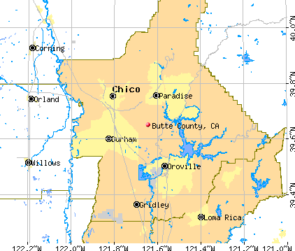 Butte County, CA map