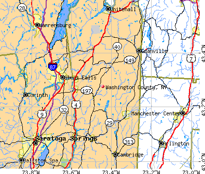 Washington County, NY map