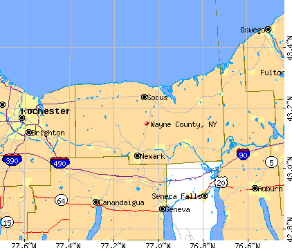 Wayne County, NY map