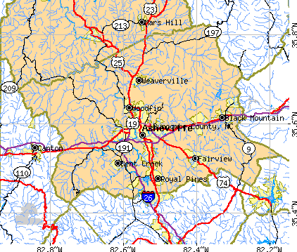 Buncombe County, NC map
