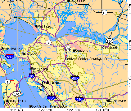 Contra Costa County, CA map