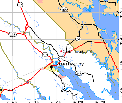 Camden County, NC map