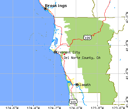 Del Norte County, CA map