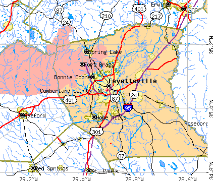 Cumberland County, NC map