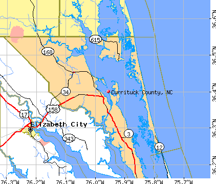 Currituck County, NC map