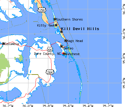 Dare County, NC map