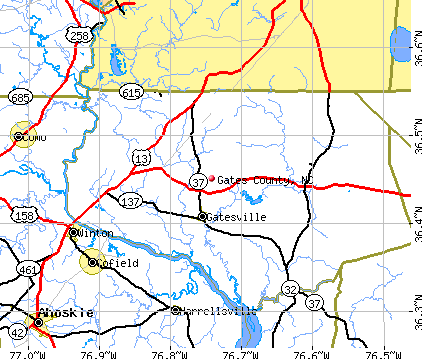 Gates County, NC map