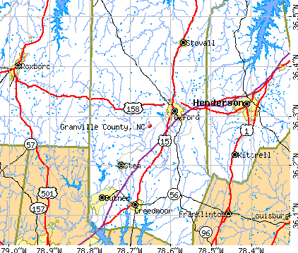 Granville County, NC map