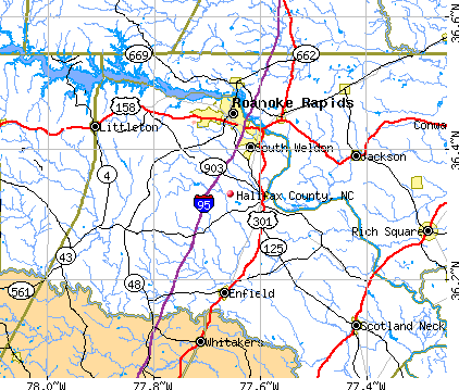 Halifax County, NC map
