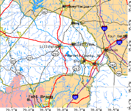 Harnett County, NC map