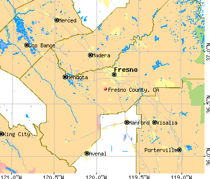 Fresno County, CA map