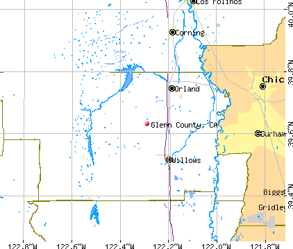 Glenn County, CA map