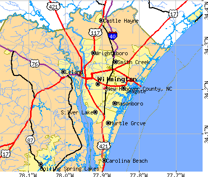 New Hanover County, NC map