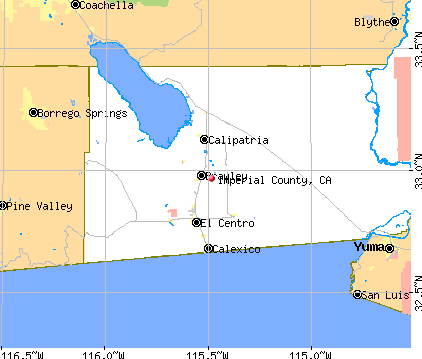 Imperial County, CA map