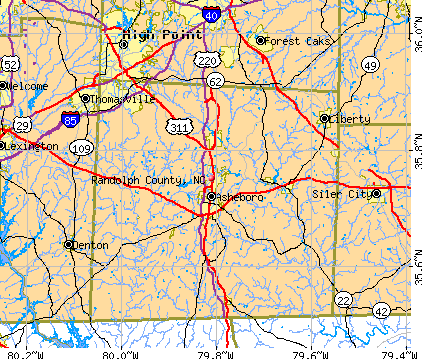 Randolph County, NC map
