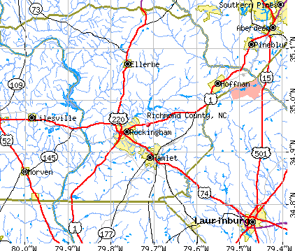 Richmond County, NC map