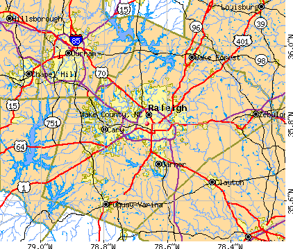 Wake County, NC map