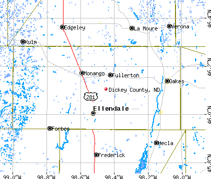 Dickey County, ND map