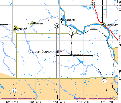 Oliver County, ND map