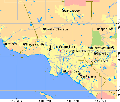 Los Angeles County, CA map