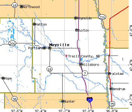 Traill County, ND map