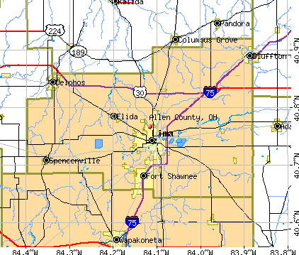 Allen County, OH map