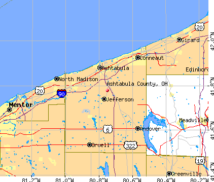Ashtabula County, OH map