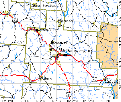 Athens County, OH map