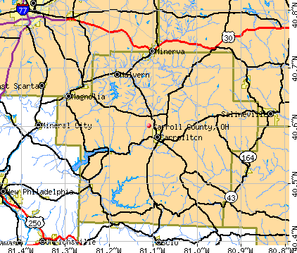 Carroll County, OH map