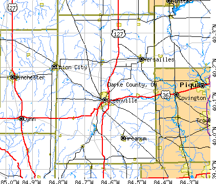 Darke County, OH map